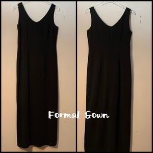 AGB Byer Long Black Beaded Formal Gown Size 6